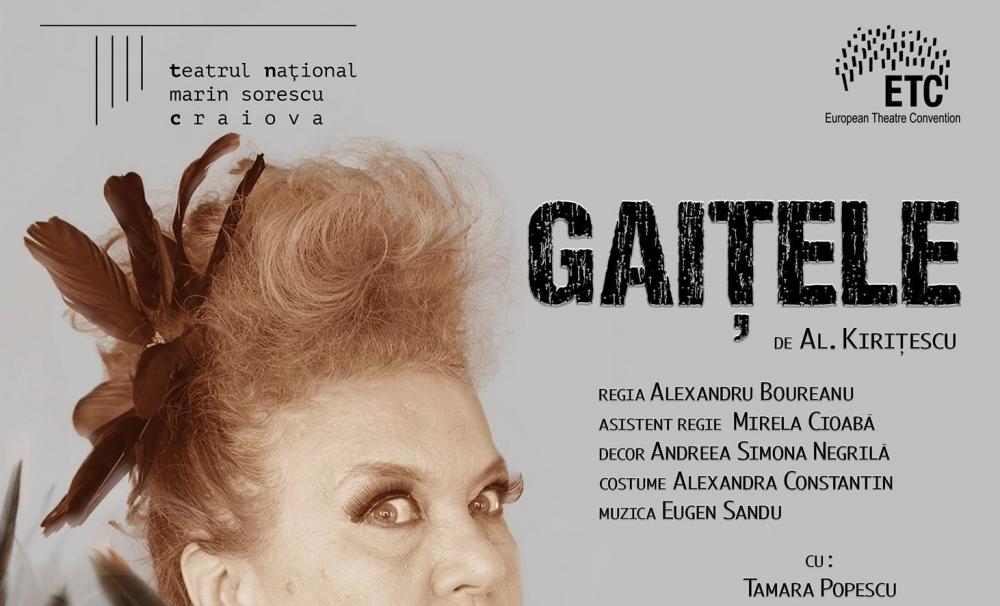 Piesa Gaițele dă startul spectacolelor Teatrului Național Craiova în 2018